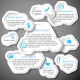 Blå abstrakt bubbla för baner för rengöringsdukdesign Arkivfoton
