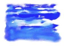 Blå abstrakt cirkel på den vita bakgrunden Arkivbild