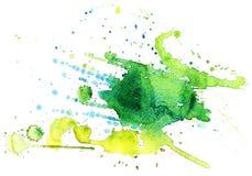 Blå abstrakt cirkel på den vita bakgrunden Fotografering för Bildbyråer