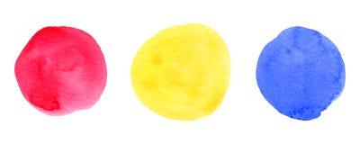 Blå abstrakt cirkel på den vita bakgrunden Arkivbilder