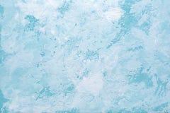 Blå abstrakt dekorativ textur av den gamla stuckaturväggen Arkivfoto