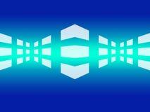 Blå abstrakt nätverksbakgrund Arkivbilder