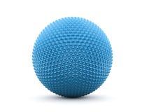 Blå abstrakt polygonal sfär Arkivfoto