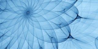 Blå abstrakt prydnad Royaltyfria Bilder