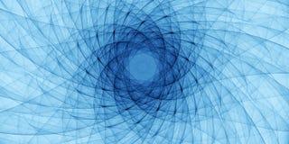 Blå abstrakt prydnad Arkivfoto