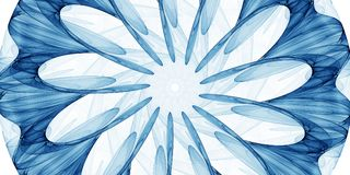 Blå abstrakt prydnad Arkivfoton