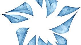 Blå abstrakt prydnad Royaltyfri Fotografi