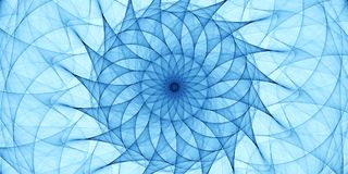 Blå abstrakt prydnad Royaltyfri Bild