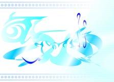 Blå abstrakt prydnad Royaltyfria Foton