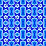 Blå abstrakt sömlös modellbakgrund Royaltyfria Foton
