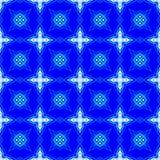 Blå abstrakt sömlös modellbakgrund Arkivfoto