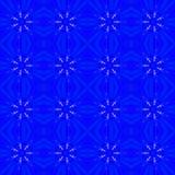 Blå abstrakt sömlös modellbakgrund Royaltyfri Bild