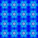 Blå abstrakt sömlös modellbakgrund Arkivbild
