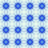 Blå abstrakt sömlös modellbakgrund Arkivbilder