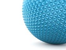Blå abstrakt sfär med polygonal Arkivfoton