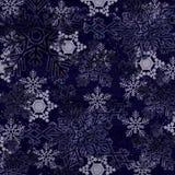 Blå abstrakt snö flagar bakgrund Royaltyfria Bilder