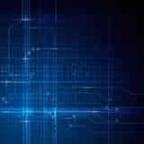Blå abstrakt teknologiströmkretsbakgrund Royaltyfri Bild