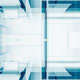 Blå abstrakt tolkning för design 3D Royaltyfri Bild