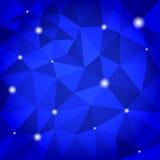 Blå abstrakt triangelbakgrund Stock Illustrationer