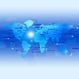 Blå affärsbakgrund för flyg stock illustrationer
