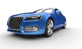 Blå affärsbil Royaltyfri Bild