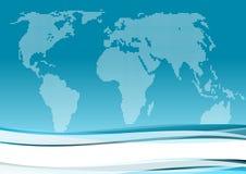 blå affärsinternational för bakgrund Arkivfoto