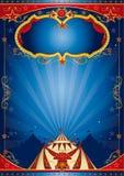 Blå affischcirkus Royaltyfria Bilder