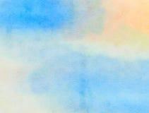 Blå akvarellpappersWash Royaltyfri Bild