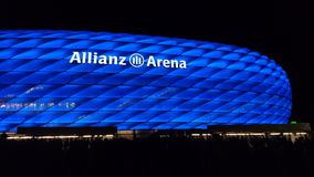 Blå Allianz arena TSV Munich 1860 Royaltyfri Bild