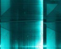 Blå aluminum yttersida Metallisk geometrisk abstrakt texturbakgrund Uppsättning av svartbultar och skruv-muttrar på grafpapper me Royaltyfri Bild