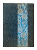 blå anteckningsbok arkivfoton