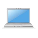blå bärbar datorskärmvektor Royaltyfri Foto