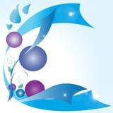 Blå bakgrund Fotografering för Bildbyråer