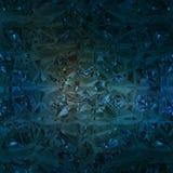 Blå bakgrund av smyckengemstonen Royaltyfria Bilder