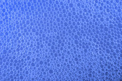 Blå bakgrund för bubbla arkivbild