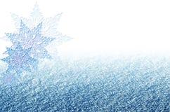 Blå bakgrund för elegant jul med snöflingor Arkivbilder