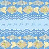 Blå bakgrund för fisk Royaltyfri Bild
