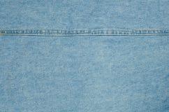 Blå bakgrund för grov bomullstvilljeanstextur Royaltyfri Bild