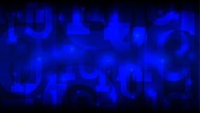 Blå bakgrund för matris med den binära koden, digital kod i abstrakt futuristisk cyberspace, konstgjord intelligens, stora data,  royaltyfri illustrationer