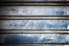 Blå bakgrund för metallark Royaltyfri Fotografi