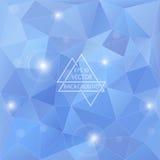 Blå bakgrund för polygon Royaltyfria Bilder