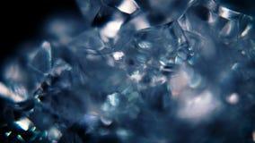 Blå bakgrund för rörelse för iskristaller stock video