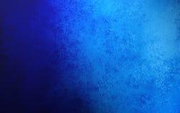 Blå bakgrund för safir med grungetexturdesign Arkivbild