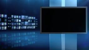 Blå bakgrund för skärm arkivfilmer