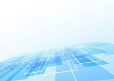 Blå bakgrund för tegelplattalögnperspektiv Arkivbild