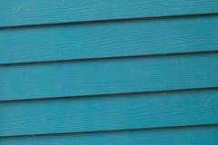 Blå bakgrund för trä Royaltyfria Foton