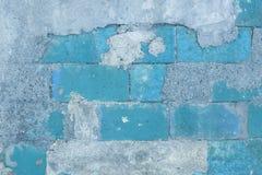 Blå bakgrund för vägg Arkivbilder
