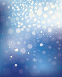 Blå bakgrund för vektor med ljus och stjärnor. Royaltyfri Foto