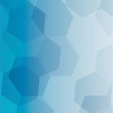 Blå bakgrund för wihtepolygonabstrakt begrepp, eps 10 Arkivfoto