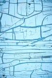 Blå bakgrund från skrapor och sprickor Royaltyfri Fotografi